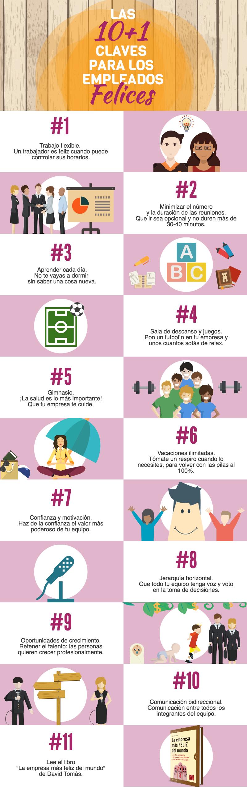 Las 10+1 claves para los empleados felices